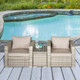 PE Rattan Outdoor Armchair Set with Table (3-Piece) product image