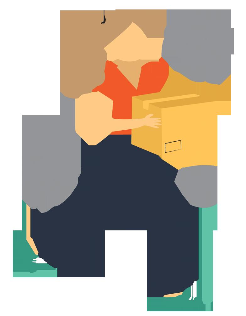 Image of shopper returning an item