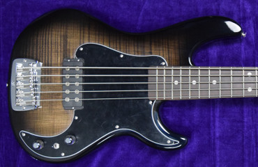 G&L Kiloton 5, Blackburst Over Flamed Maple with Rosewood Fingerboard