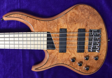 MTD Kingston Z-5 LEFTY, Natural Maple Burl with Maple Fingerboard