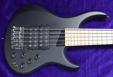 MTD Kingston Super-5, Matte Black with Maple Fingerboard.