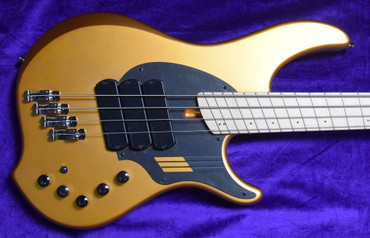 Dingwall NG-3 (4-String), Gold Metallic / Maple *Tiny Factory Cosmetic Flaw = Save $! In Stock!