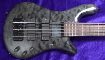 """Spector Euro 5LX Bantam - 32"""" Scale, Trans Black Stain Gloss with Rosewood"""