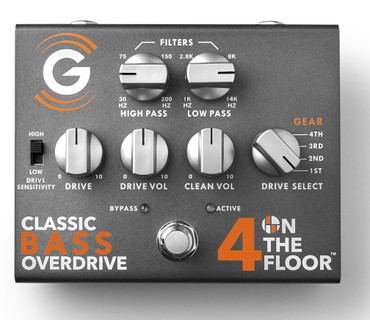 """Genzler Amplification """"4 On the Floor"""" Classic Bass Overdrive Pedal"""