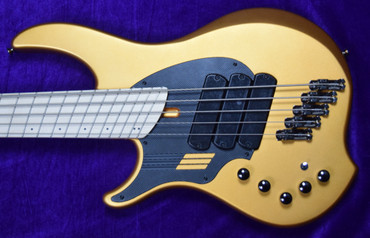 Dingwall NG-3 5 String LEFTY, Matte Gold Metallic / Maple *In Stock!