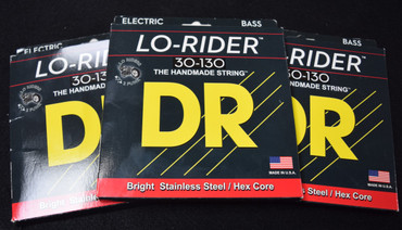 DR Lo-Rider (6 String) Bass Strings, 30-130 *3Pack Special, FREE Shipping!