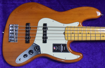 Fender American Pro II Jazz Bass (5 String), Roasted Pine with Maple Fingerboard