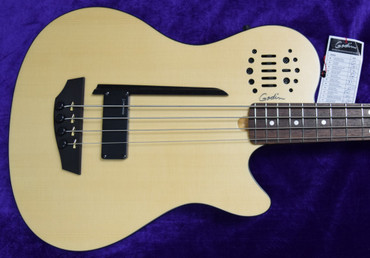 Godin Acoustic/Electric A4 Ultra, Natural Spruce with Rosewood Fingerboard.