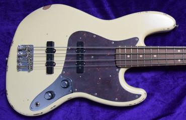 Fender 60th Anniversary Jazz Bass (Roadworn), Olympic White / Pau Ferro *Factory Flaw = Save $