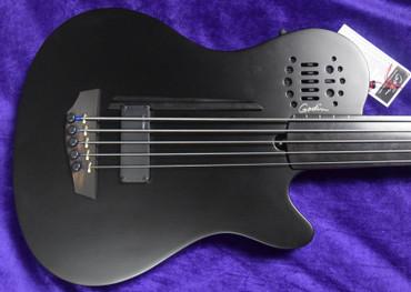 Godin Acoustic/Electric A5 Ultra FRETLESS, Matte Black w/ Richlite Fingerboard