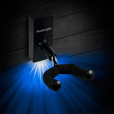 Osiamo MuzicLight Guitar/Bass Wall Hanger with Blue LED's