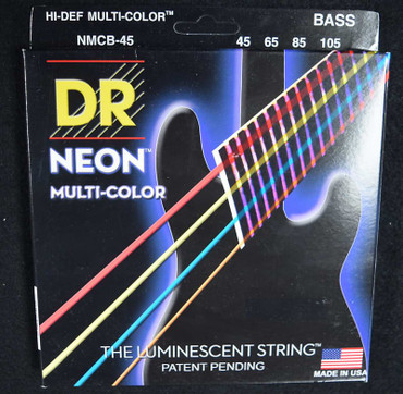 DR Neon Multi-Color Bass Strings, 45-105