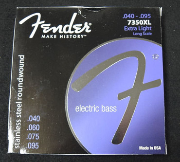 Fender Stainless Steel Roundwound Bass Strings, 40-95 Long Scale