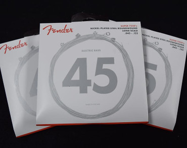 Fender Nickel Plated Roundwound Bass Strings (5-String), 45-125 Long ***3-Pack with FREE SHIPPING!
