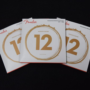Fender Phosphor Bronze Acoustic Guitar Strings, 12-53 ***3-Pack with FREE SHIPPING!