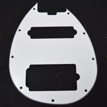 Ernie Ball Music Man Sterling 5 HS Pickguard, 3-Ply White