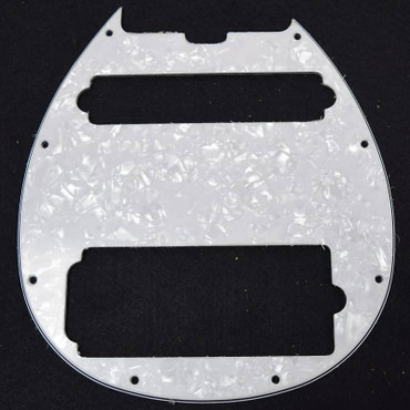 Ernie Ball Music Man Bongo 6 HS Pickguard, White Pearloid