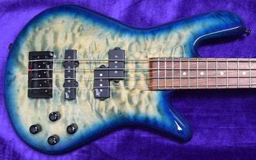 Spector Legend 4 NECK-THRU, Faded Blue with Pau Ferro Fingerboard and Aguilar Electronics