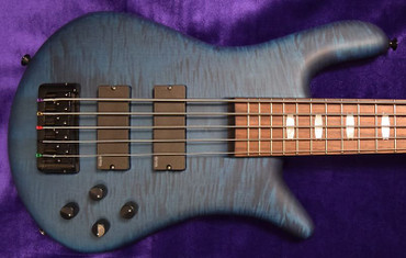 Spector Euro 5LX, Black and Blue Matte (NEW Color!) with Rosewood Fingerboard and EMG Pickups
