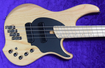 Dingwall Combustion (4-String), Natural Ash with Maple Fingerboard *In Stock!