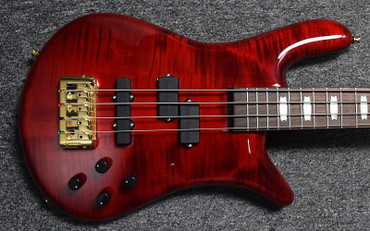Spector Euro 4 LX, Black Cherry Gloss with Rosewood Fingerboard and Bartolini Pickups