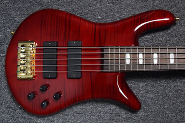 Spector Euro 5LX, Black Cherry Gloss with Rosewood Board and Bartolini Dual Coils *NOT Pre-Owned