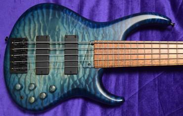 MTD (U.S.A.) 535-24, Blue Burst with Roasted Birdseye Maple