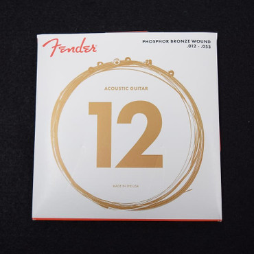 Fender Phosphor Bronze Acoustic Guitar Strings, 12-53