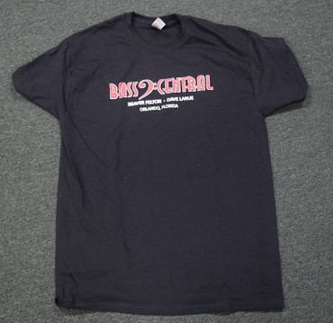 Bass Central T-Shirt, Black (Select Sizes Available) FREE Shipping in Cont. USA