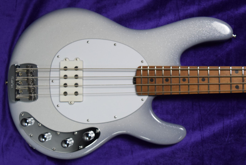Ernie Ball Music Man StingRay 4 Special, Snowy Night with Maple Fingerboard