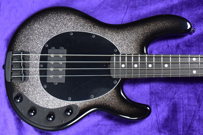 Ernie Ball Music Man StingRay 4 Special, Smoked Chrome with Ebony Fingerboard