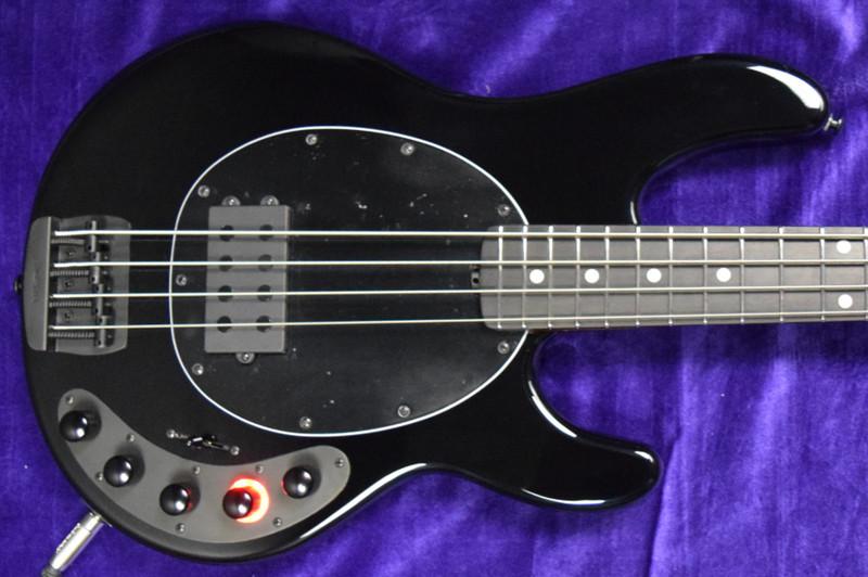 "Ernie Ball Music Man StingRay 4 ""DarkRay"", Obsidian Black/Ebony *On Order, ETA Jan. 2022"