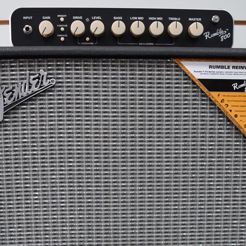 Fender Rumble 800 Bass Amp Stack 210 Cabinet