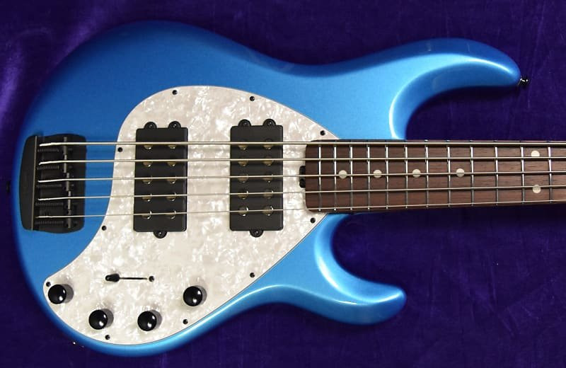 Ernie Ball Music Man StingRay 5 HH Special, Speed Blue with Rosewood Fingerboard