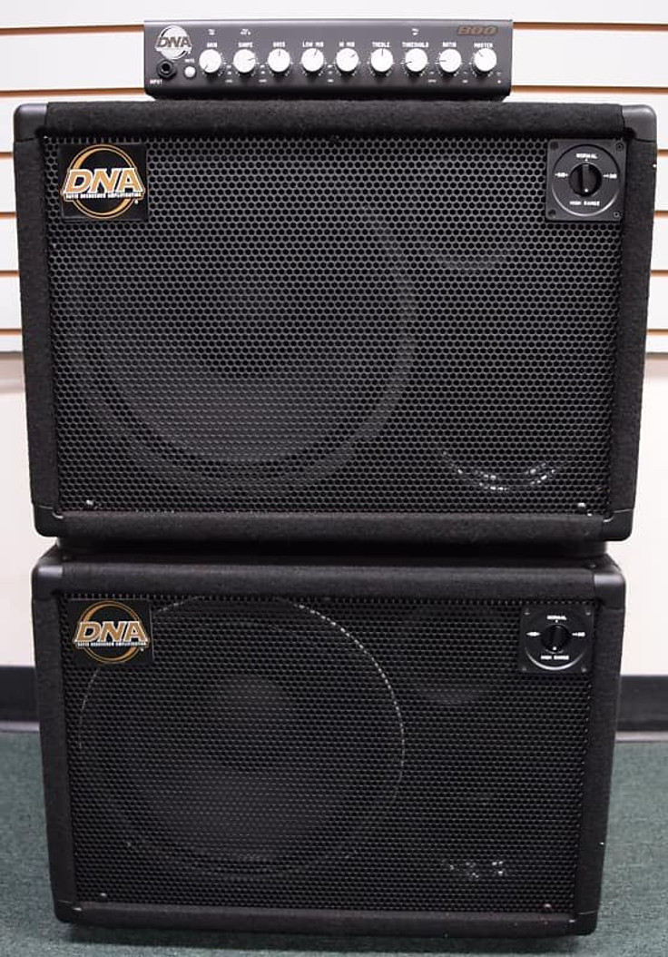 DNA 800 Watt Amp Stack, and (2x) DNS 112-N Cabs