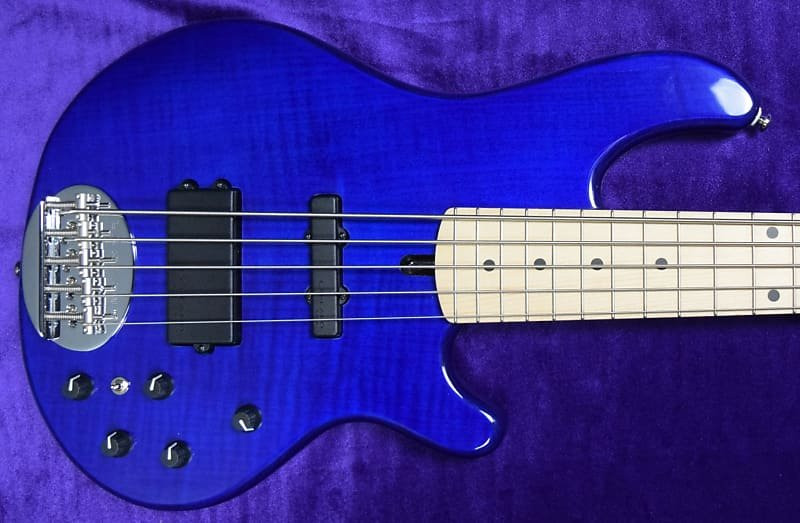 Lakland Skyline 55-02 Deluxe, Trans Blue w/ Maple *Factory Cosmetic Flaws/Full Warranty = Save $!