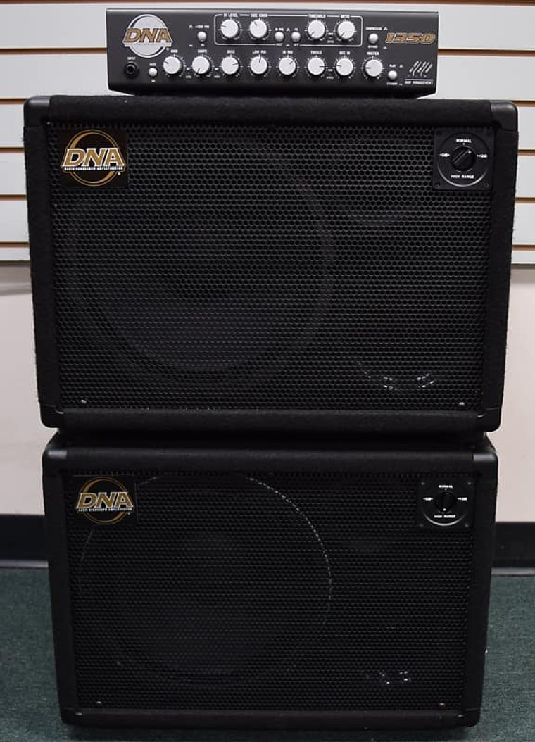 DNA 1350 Bass Amplifier with (2x) DNS 112 Cabinets