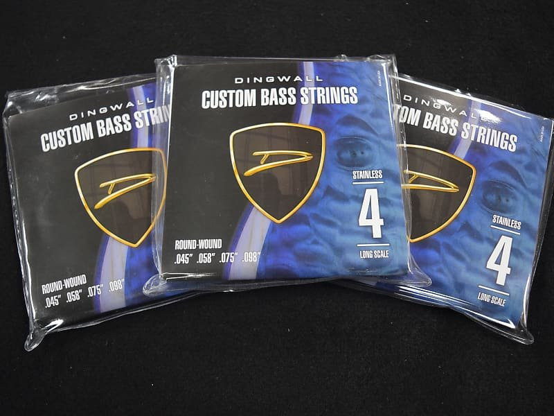 Dingwall 4-String Stainless Steel Roundwound Bass Strings (45-98) *3 Pack Special with FREE Shipping