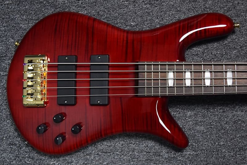 Spector Euro 5LX, Black Cherry Gloss with Rosewood Board and Bartolini Dual Coils