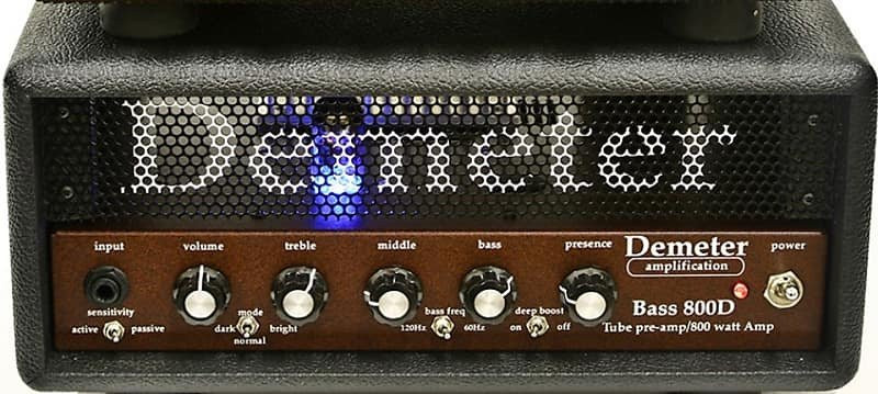 Demeter VTB-800D Amp In Tolex-Covered Wood Case