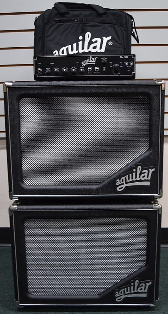 Aguilar STACK: AG 700 Amp + (2) SL 112 Cabs + Amp Carry Bag *Package Deal=FREE SHIPPING!