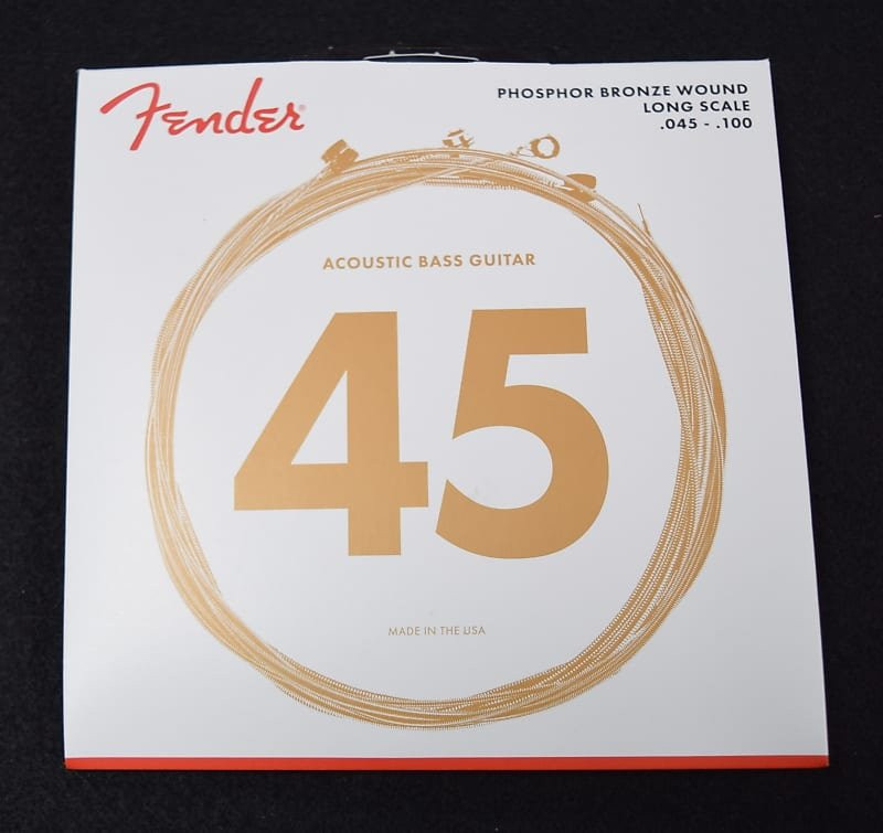 Fender Phosphor Bronze Acoustic Bass Strings, Long scale 45-100