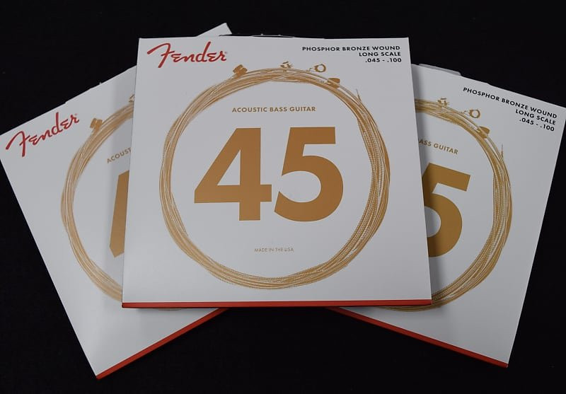 Fender Phosphor Bronze Acoustic Bass Strings, Long scale 45-100 ***3-Pack with FREE SHIPPING!