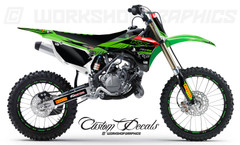KX85 Kawasaki MX Graphics Kit