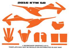 2016 KTM 50 Template