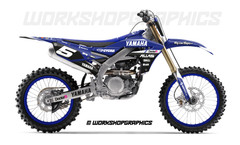 2019 YZF Haste Blue - Graphics Kit