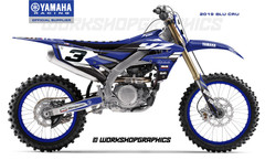 2019 YZF Blu Cru - Graphics Kit