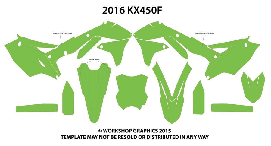 2016 KXF 450 Template