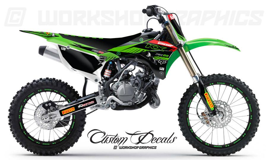 KX85 Kawasaki MX Graphics Kit