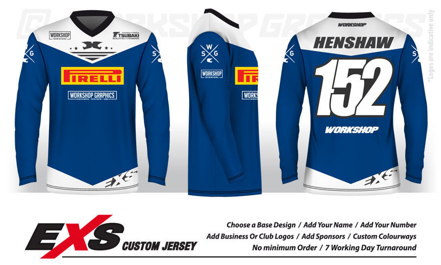 Status Blue White - EXS Race Jersey